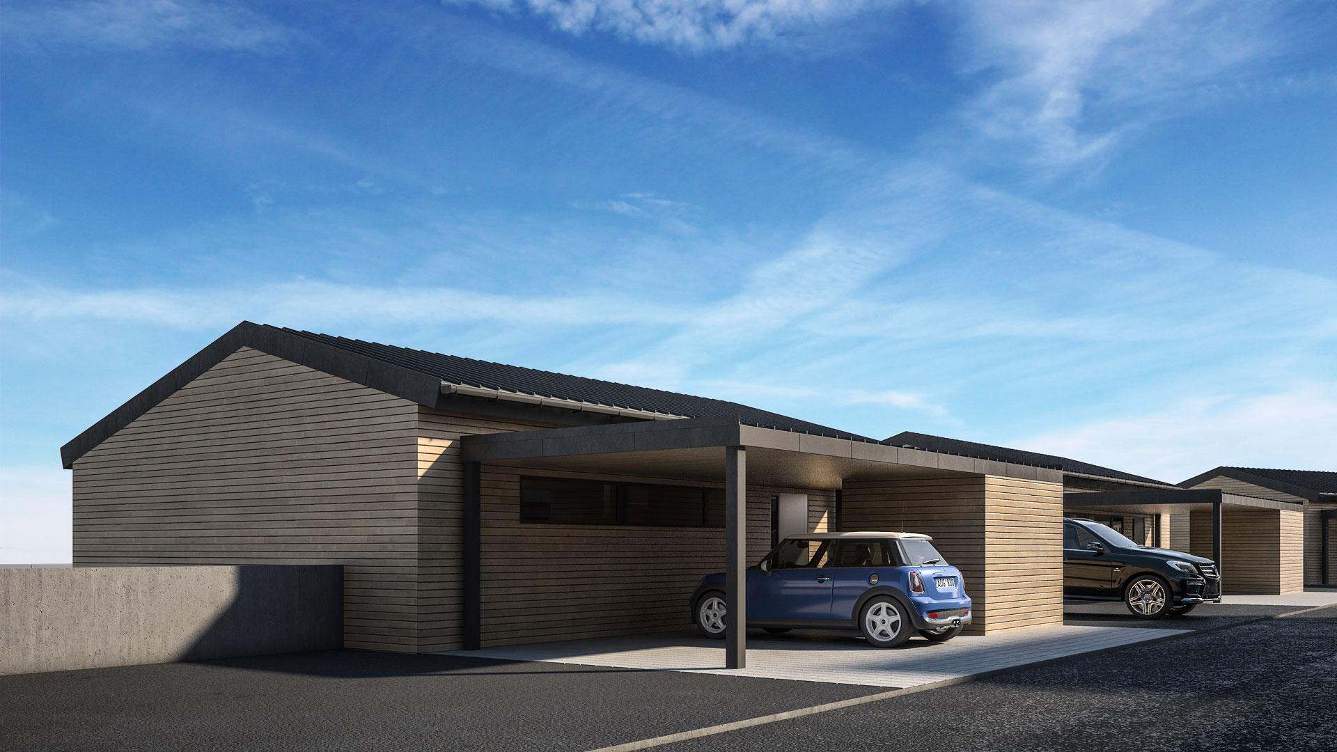 C3 Concept, visualisation 3D à Bulle. villas Le Bry extérieurs