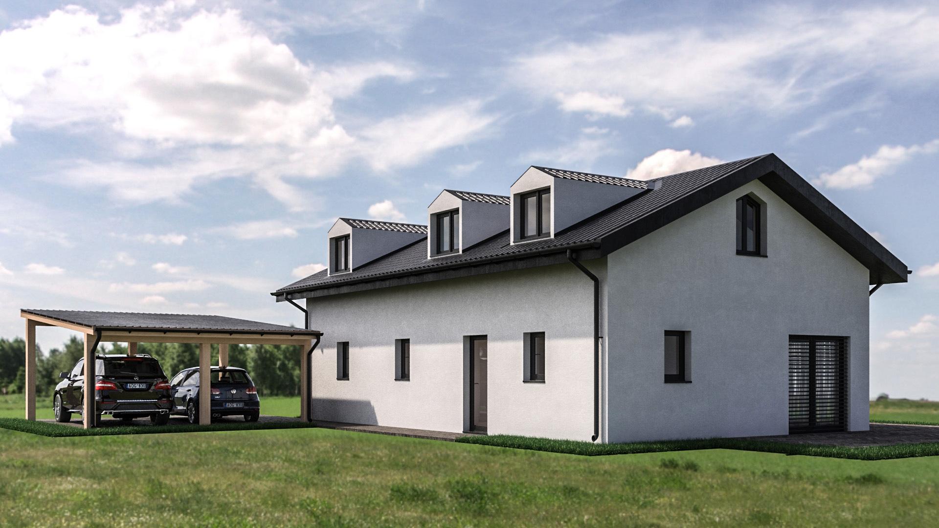 C3 Concept, visualisation 3D à Bulle. cressier villa individuelle extérieur