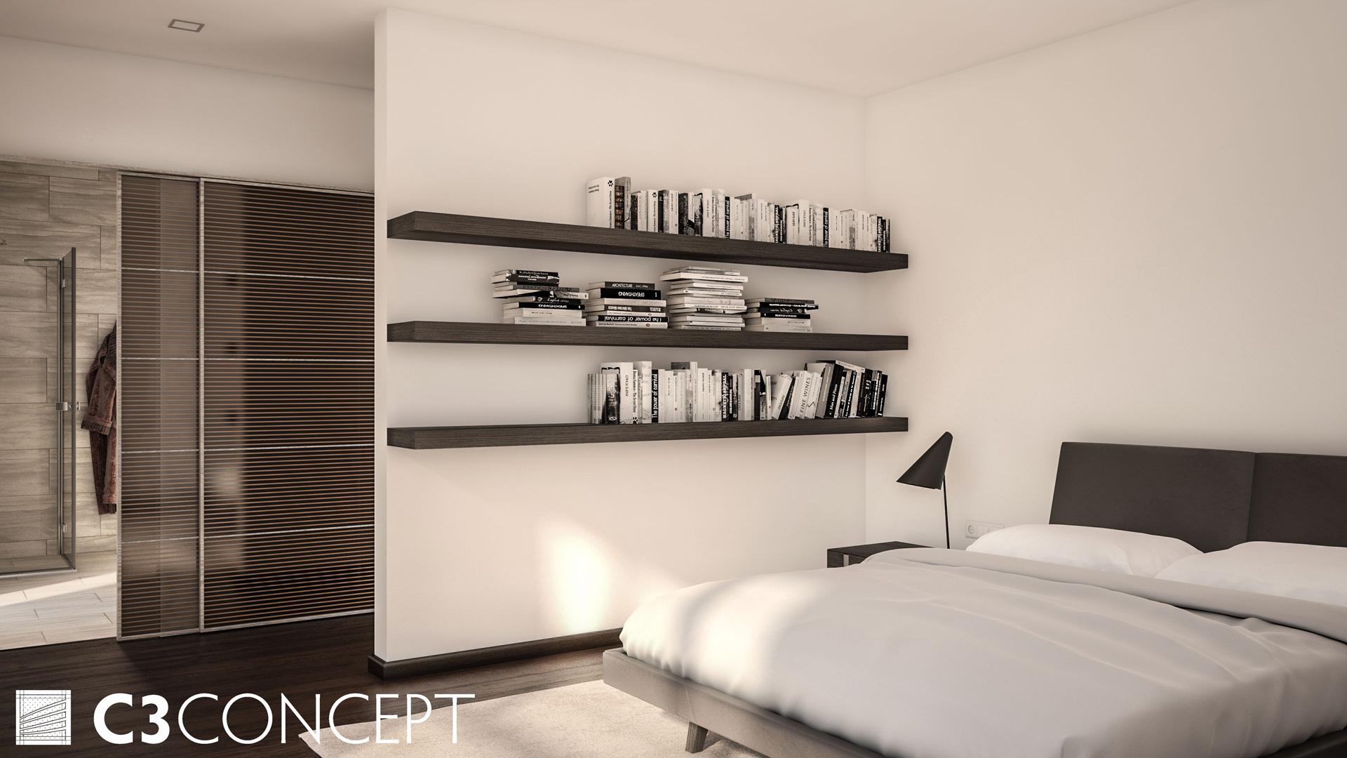C3 Concept, visualisation 3D à Bulle. Sorens villa intérieur