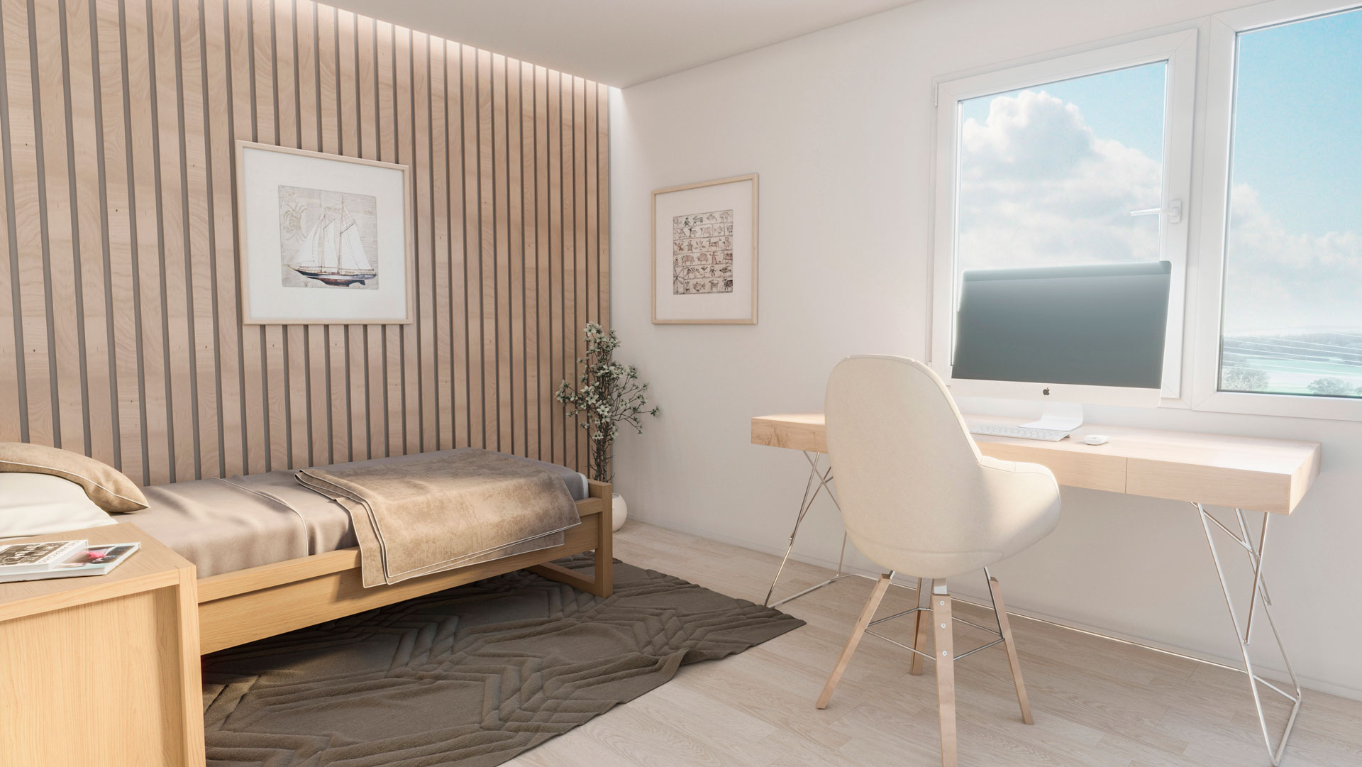 C3 Concept, visualisation 3D architecture à Bulle. Giffers intérieur