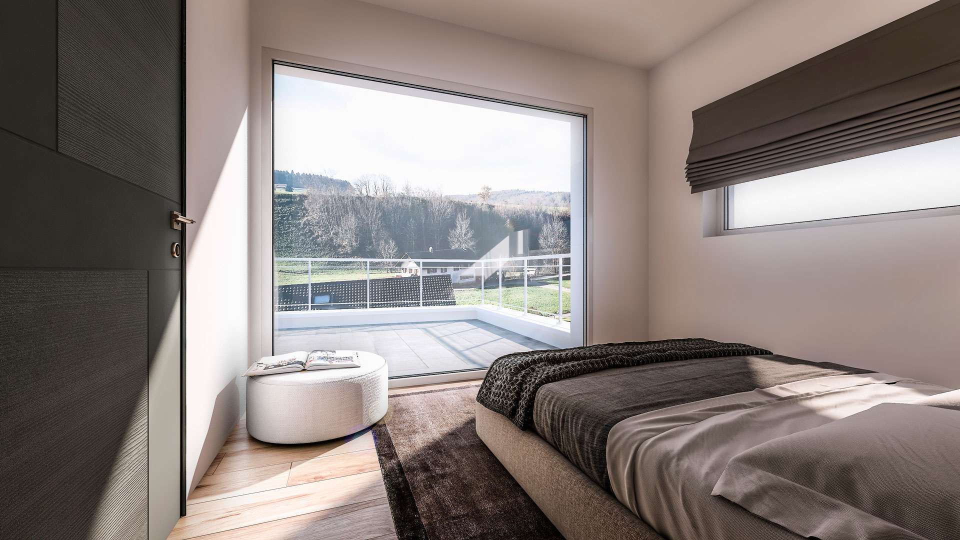 C3 Concept, visualisation 3D architecture à Bulle. Le Mouret intérieur