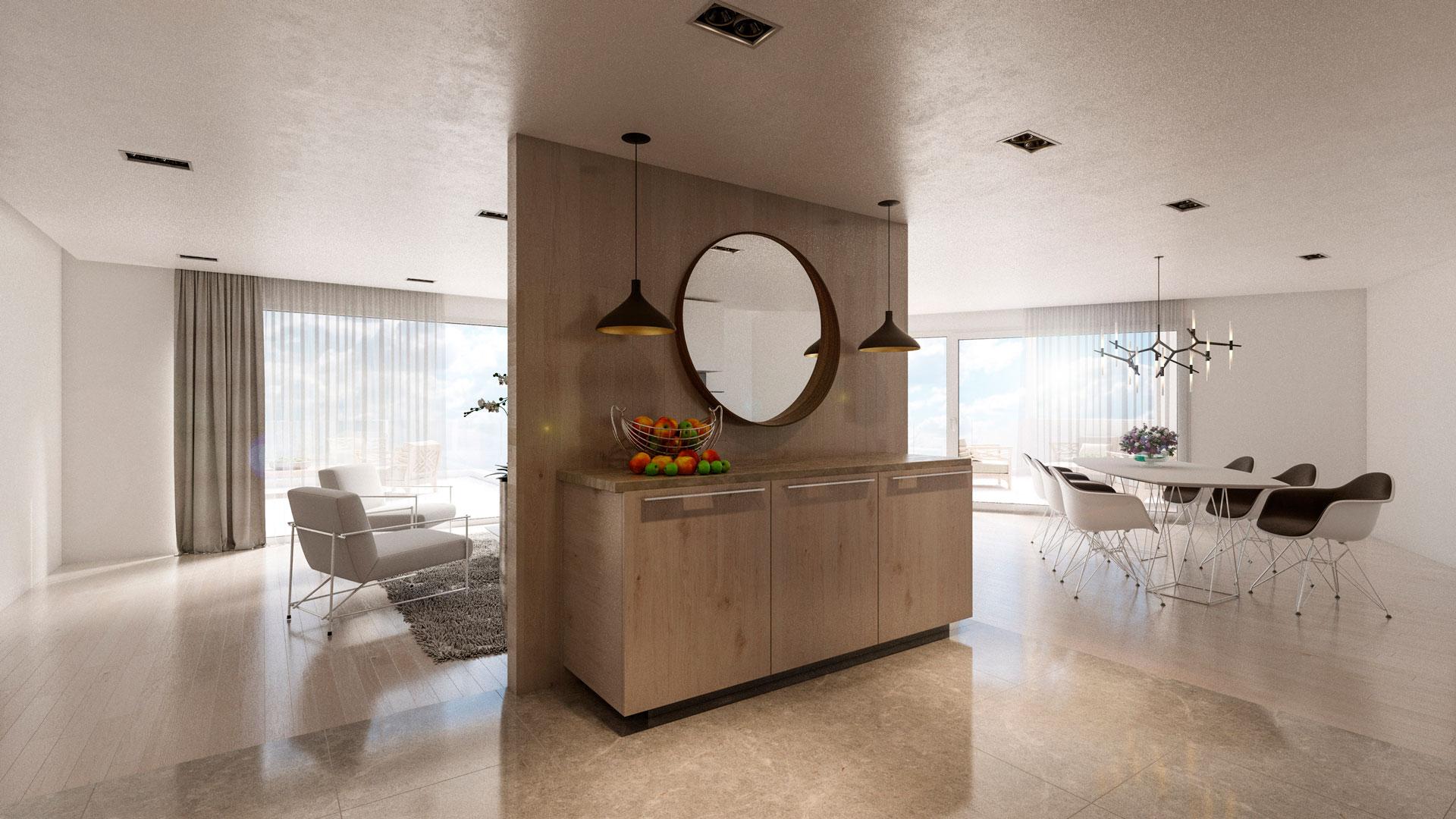 C3 Concept, visualisation 3D architecture à Bulle. Villeneuve intérieur